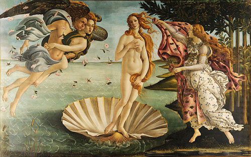 Bilder für die Seele, Linderung von Schmerzen, Sandro Botticelli die Geburt der Venus